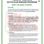 Dutch Elm Disease Program