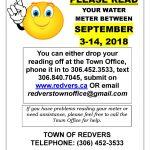Water Meter Readings!**